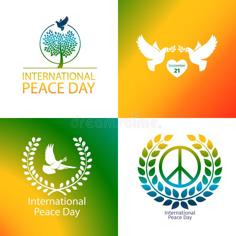 International Day of Peace poster stock illustration