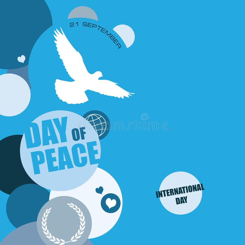 International Day of Peace stock illustration
