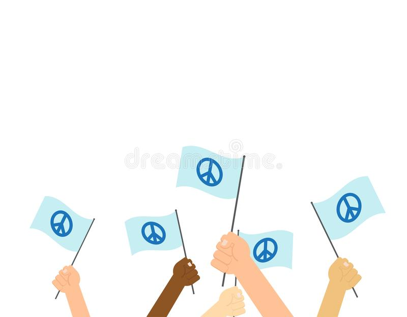 International day of peace poster vector illustration
