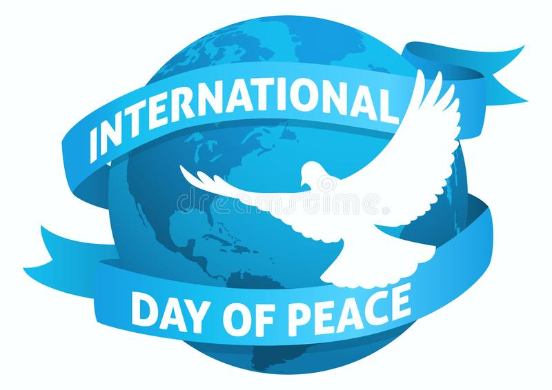 International Day of Peace symbol stock illustration