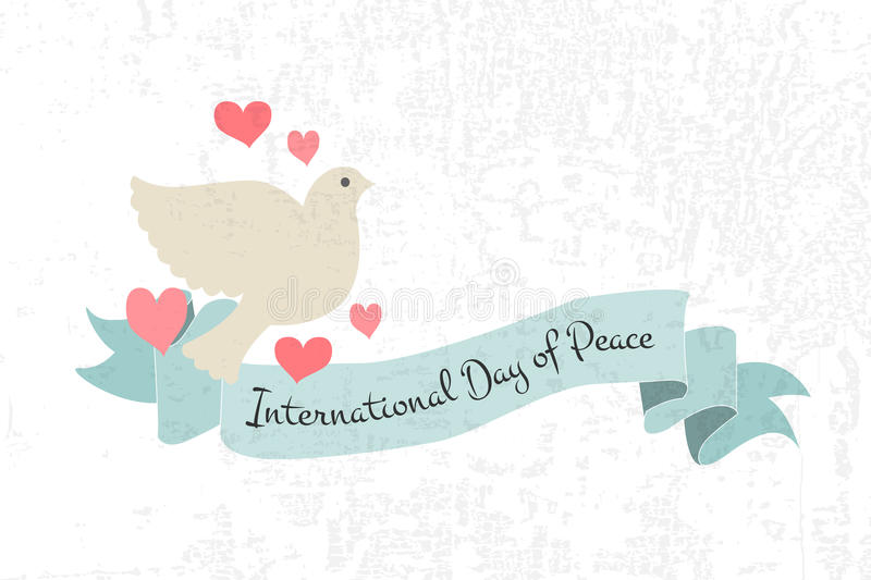 International Day of Peace vector illustration stock illustration