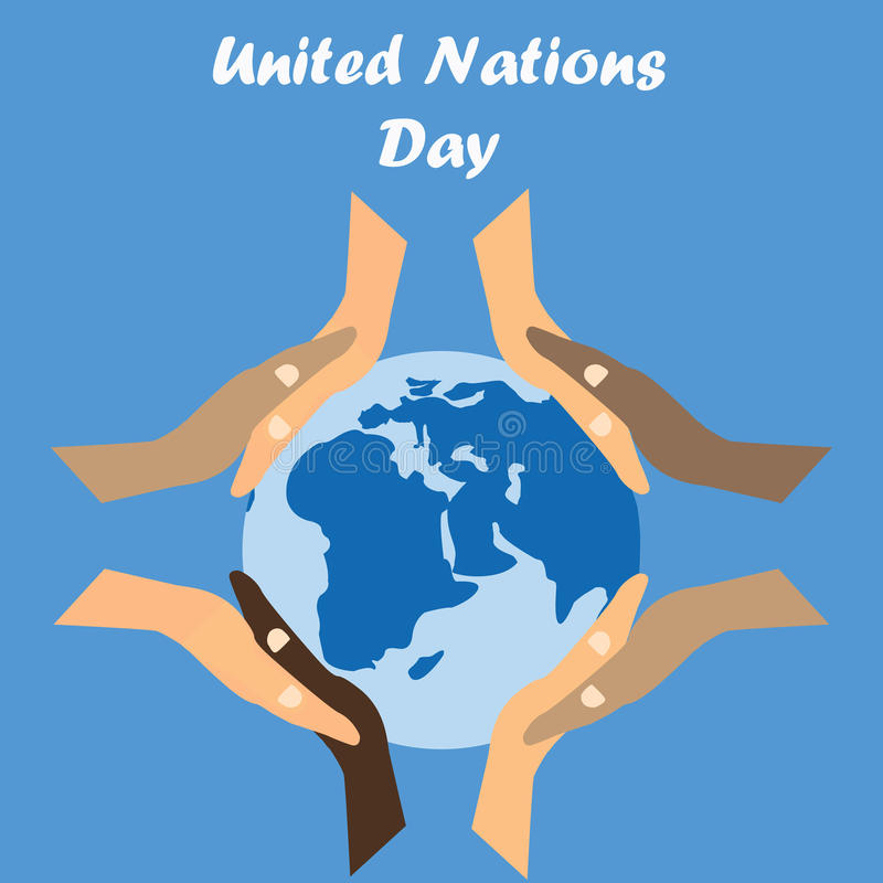 International Day of United Nations Background royalty free illustration
