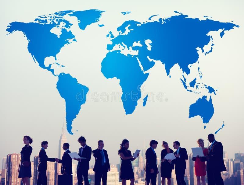 International de tierra global de la globalización de la cartografía del mundo Conce ilustración del vector