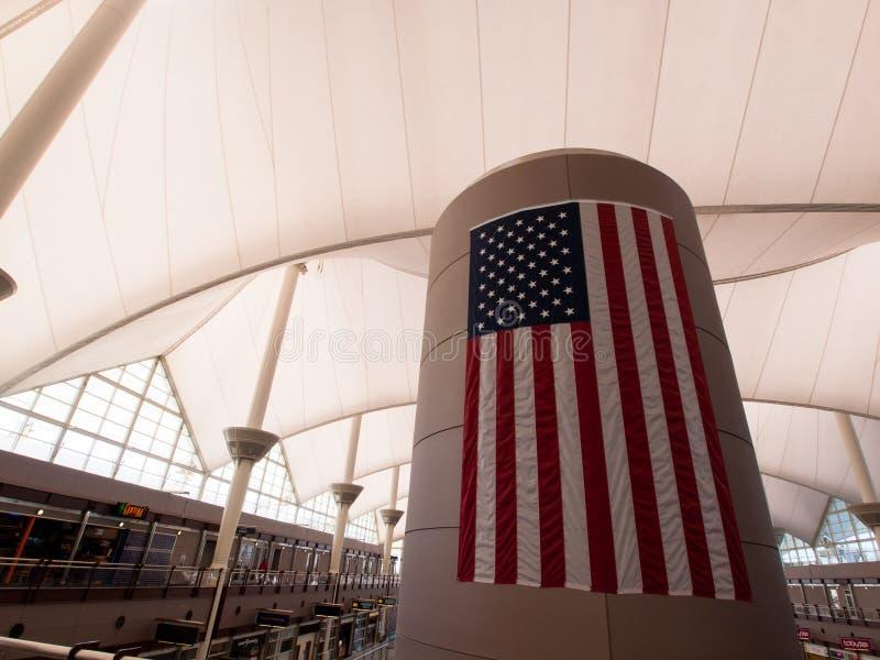 international denver авиапорта стоковая фотография