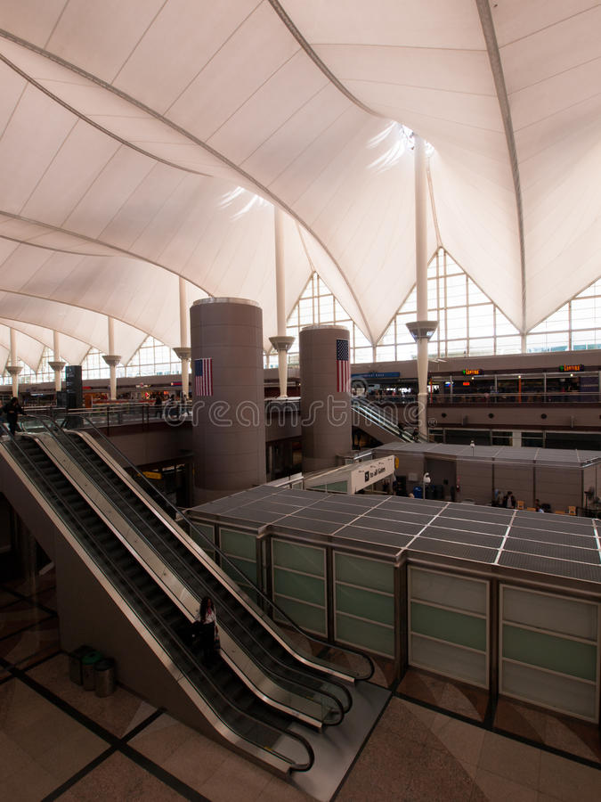 international denver авиапорта стоковые фото