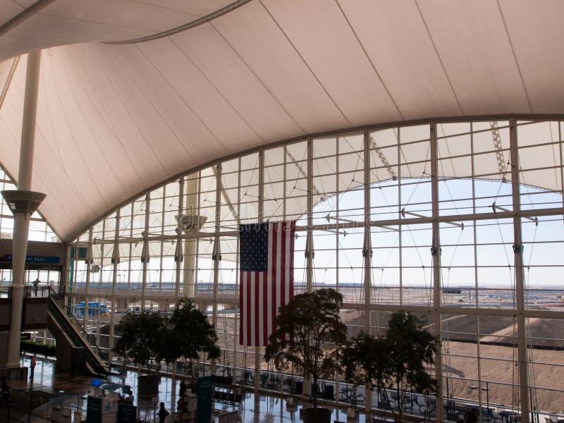 international denver авиапорта стоковые изображения rf