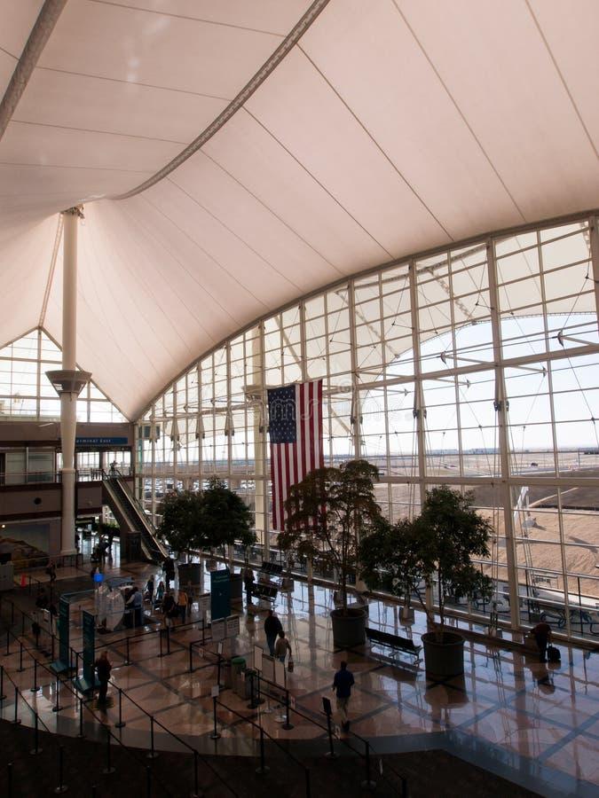 international denver авиапорта стоковое фото