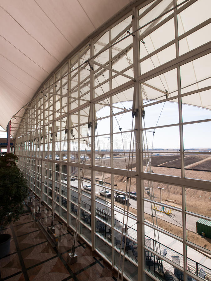 international denver авиапорта стоковые фотографии rf