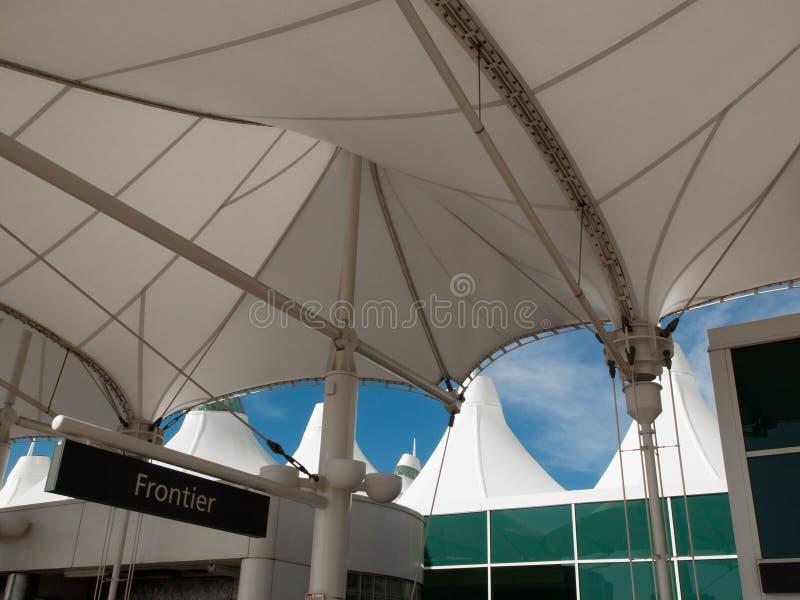 international denver авиапорта стоковое фото rf