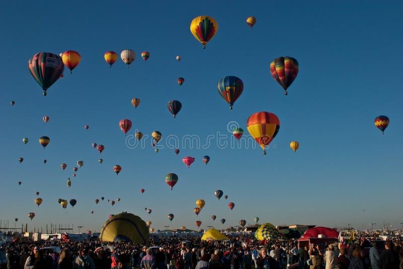 international för albuquerque ballongfiesta arkivbild