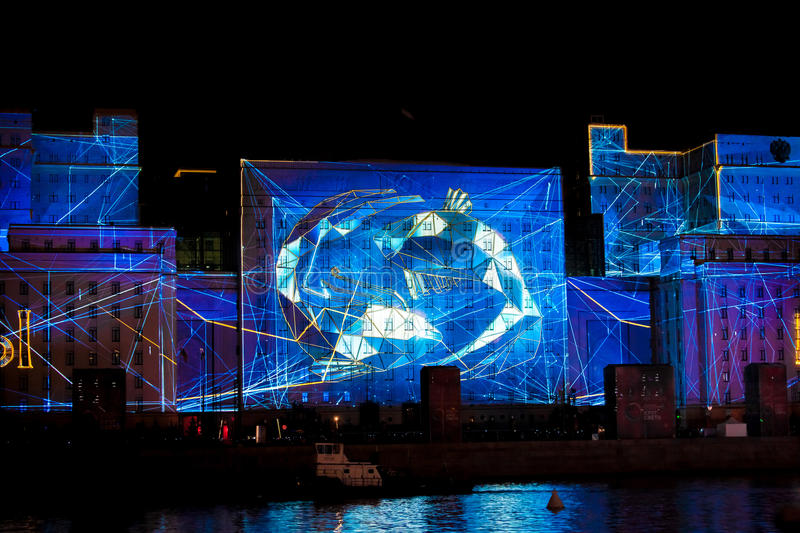 international festival circle of light laser video