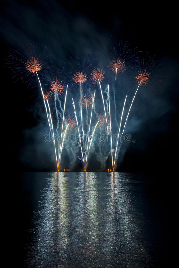 Fireworks Ignis Brunensis royalty free illustration