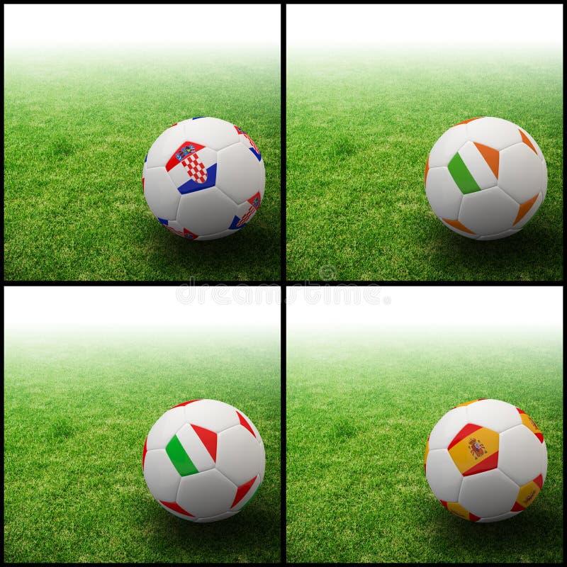 Download International Flag On 3d Football Stock Image - Image of international, europe: 24469851