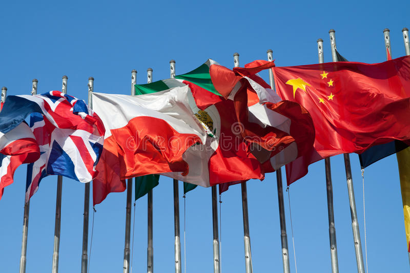 Download International Flags stock photo. Image of different, exterior - 21359836