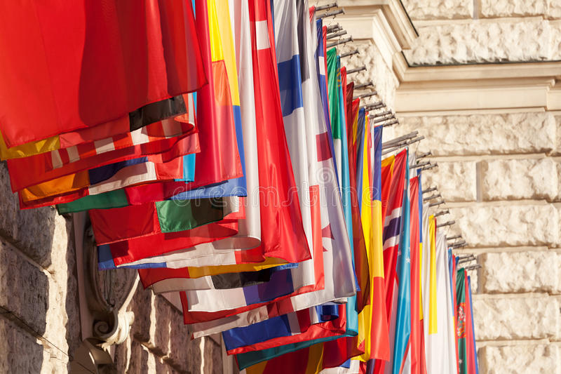 Download International flags stock image. Image of outdoors, organized - 23866323