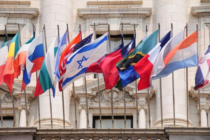 International flags royalty free stock photos