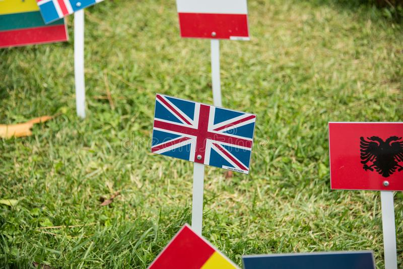 International flags from all over the world all togethrt royalty free stock photos