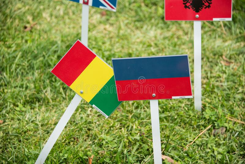 International flags from all over the world all togethrt stock images