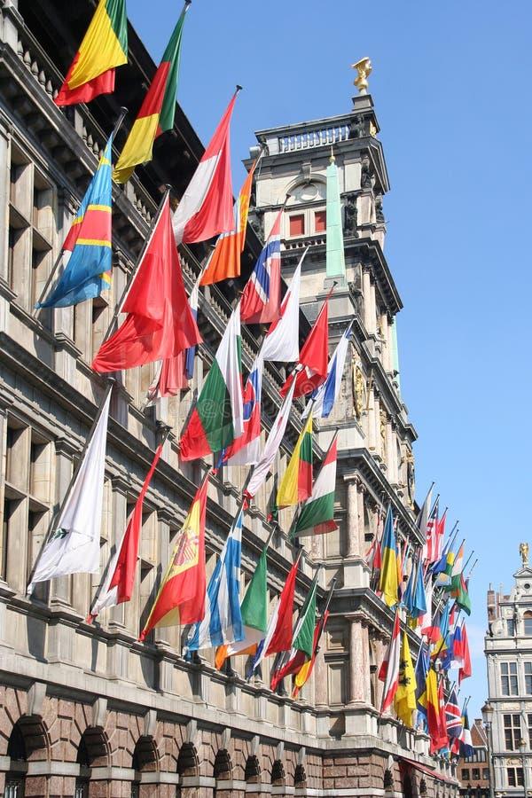International Flagsj Royalty Free Stock Photo