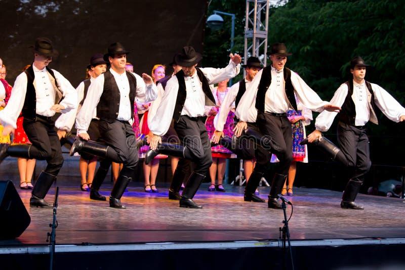 International folk dance festival, Pécs of Hungary stock images