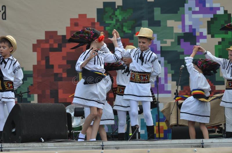 International Folklore Festival: Romanian children dancers stock photos