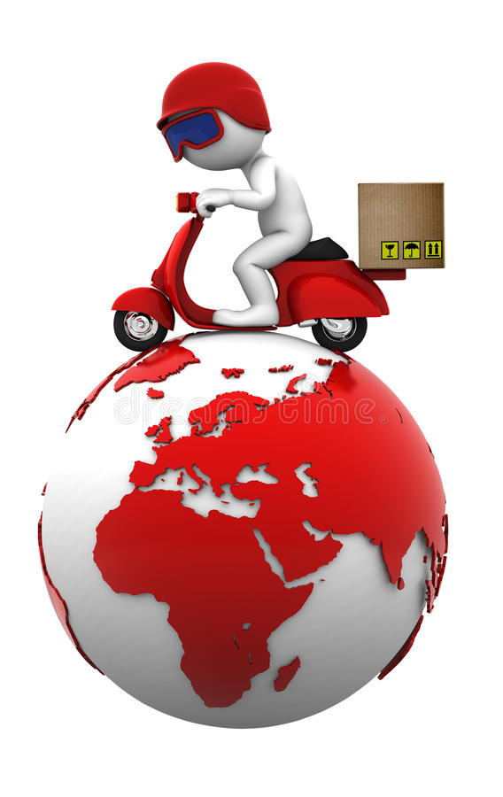 Download International Freight. Isolated Stock Illustration - Image: 25378106