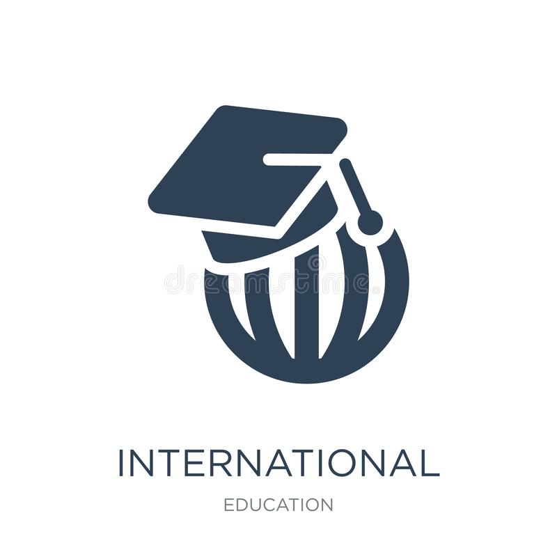 international graduate icon in trendy design style. international graduate icon isolated on white background. international vector illustration