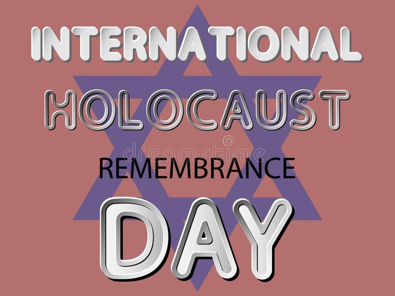 International Holocaust Remembrance Day vector illustration