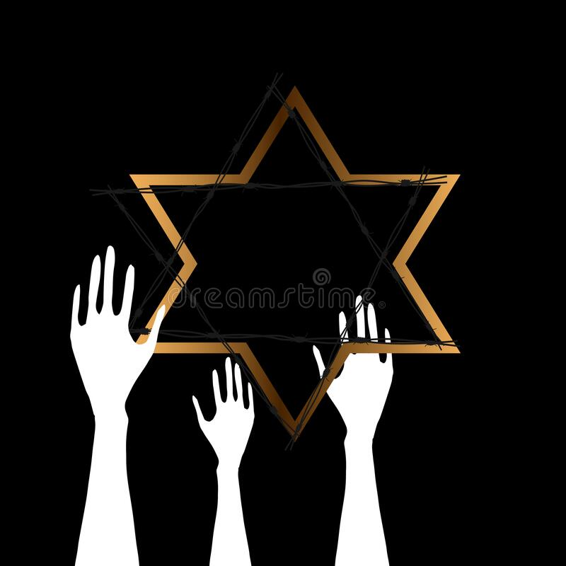 International Holocaust Remembrance Day , January 27. World War II Remembrance Day vector illustration