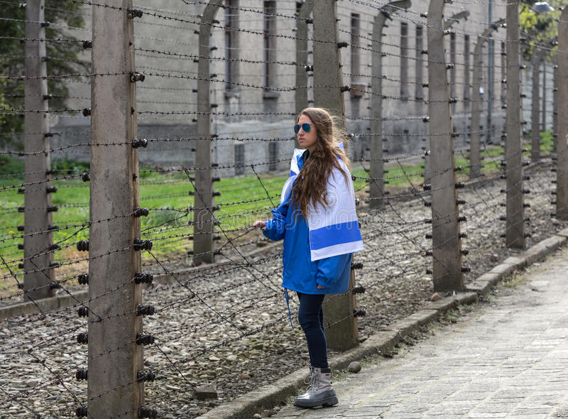 International Holocaust Remembrance Day . OSWIECIM, POLAND - APRIL 16, 2015: International Holocaust Remembrance Day . Annually people from the all the world royalty free stock image