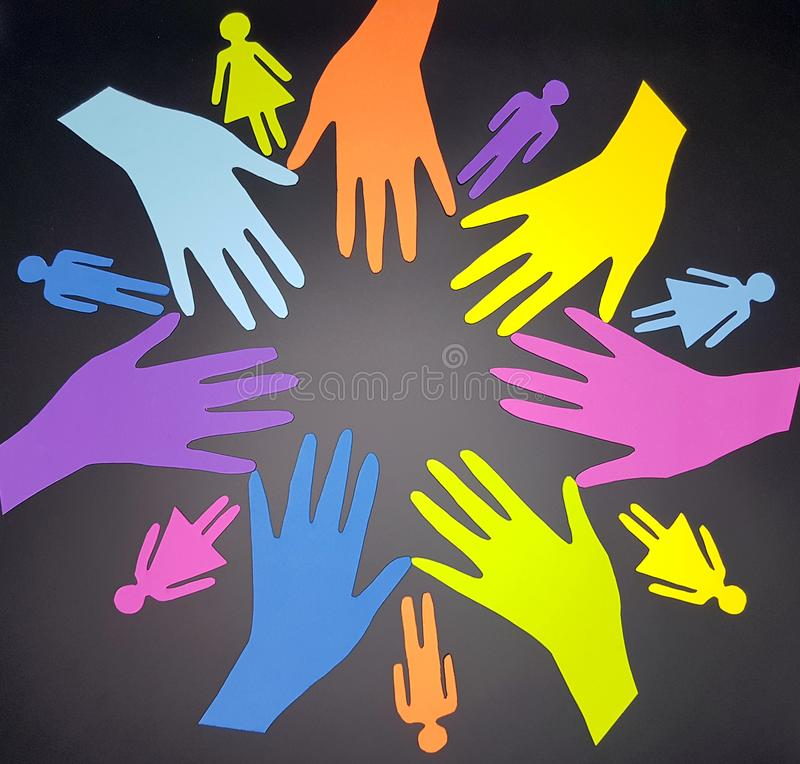 Social diversity concept royalty free stock image