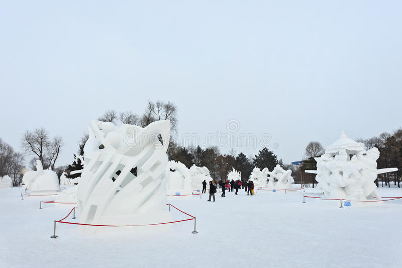 International Ice and Snow Sculpture festival, Harbin, China royalty free stock photo
