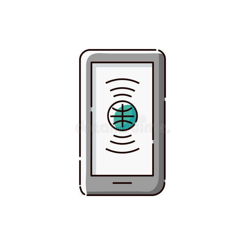 International language translation app icon on green tablet or smartphone vector illustration