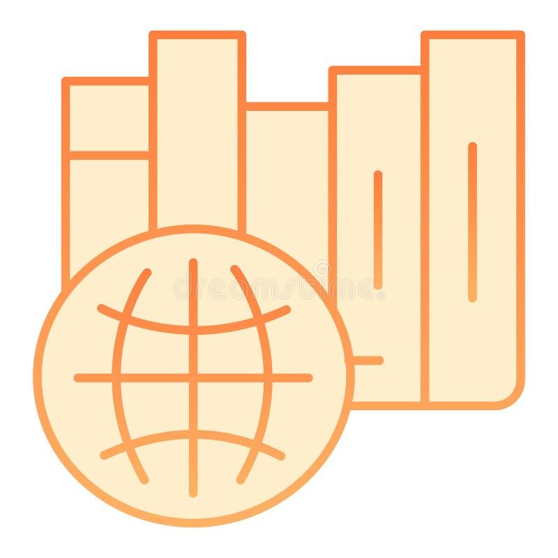 International library flat icon. International education orange icons in trendy flat style. Learning gradient style royalty free illustration
