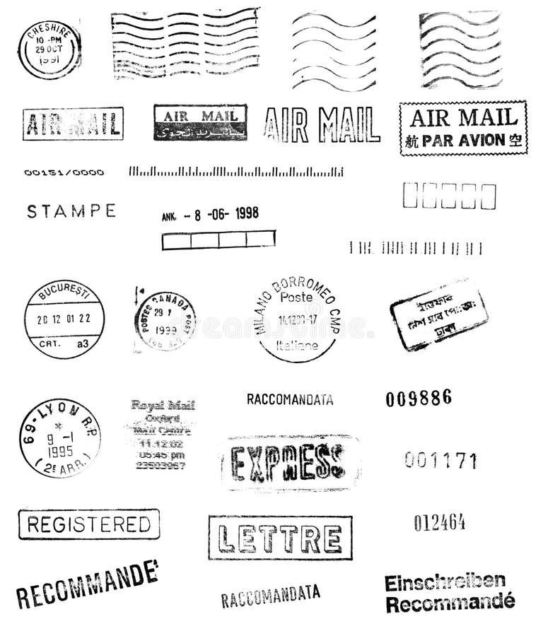 International mail stock illustration