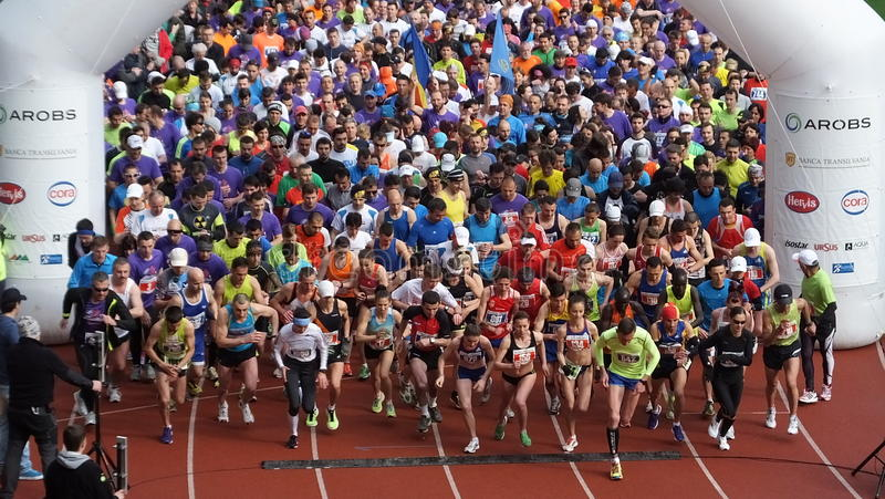 International-Marathon Klausenburgs-Napoca AROBS lizenzfreie stockbilder
