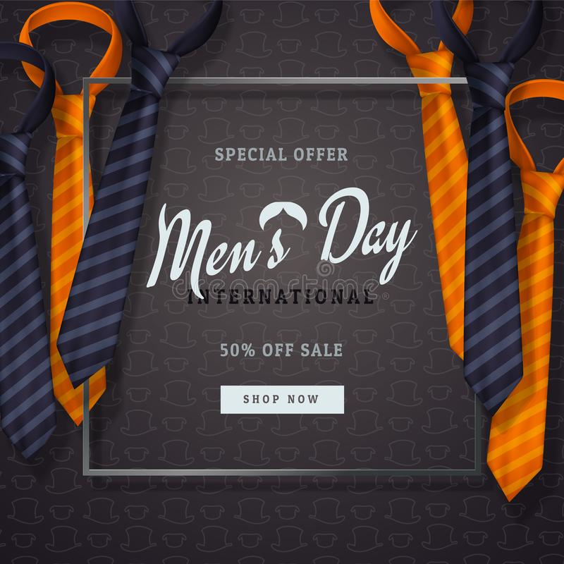 Free International Men`s Day Or Father`s Day Vector Greeting Card. Royalty Free Stock Photography - 103355467