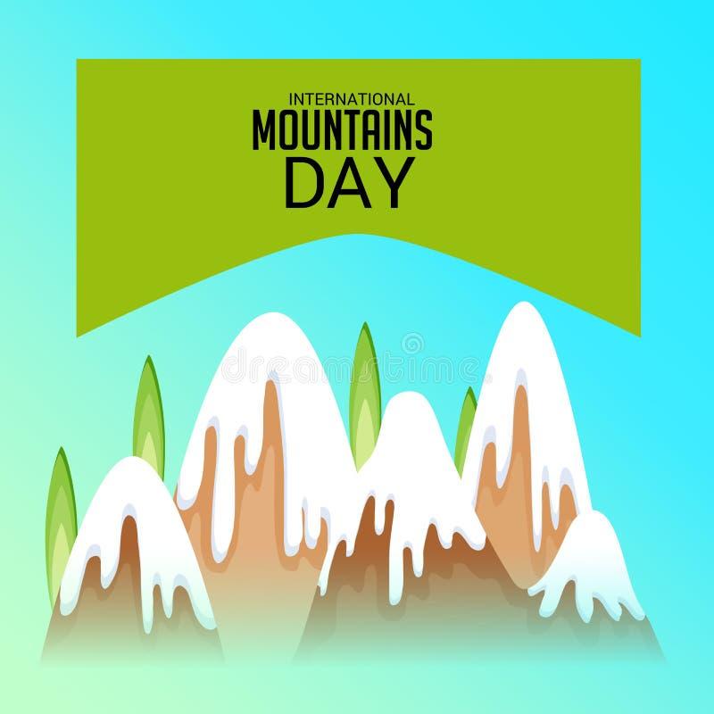 International Mountains Day. vector illustration