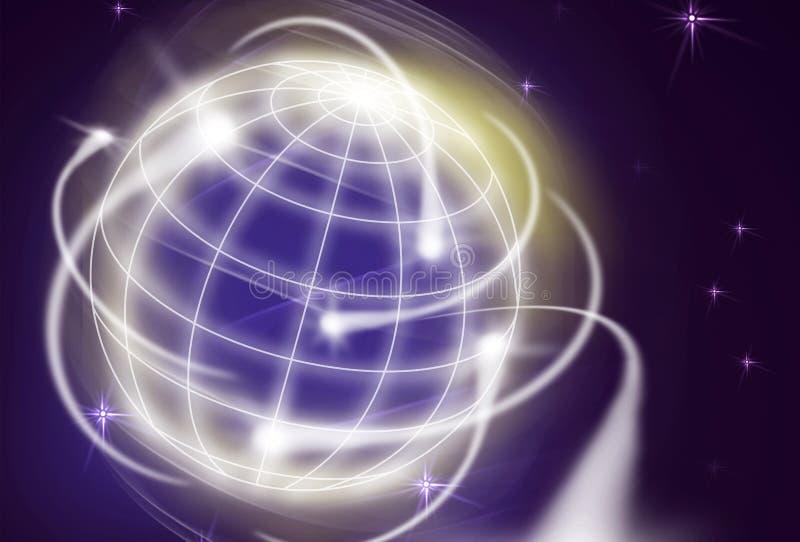 International movements. Worldwide financial movements as shooting stars vector illustration