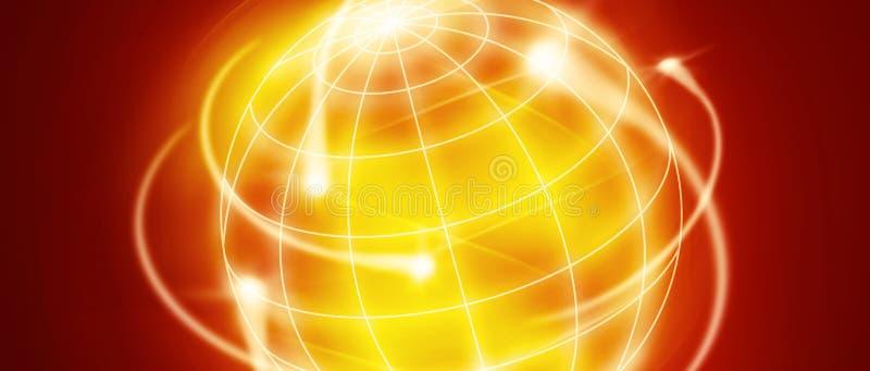 International movements. World with international movments as shooting stars royalty free illustration