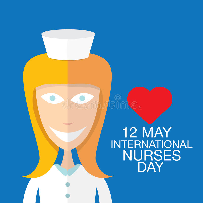 International nurse day concept with nurse stock illustration