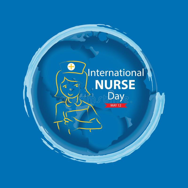 International nurse day greeting card stock illustration