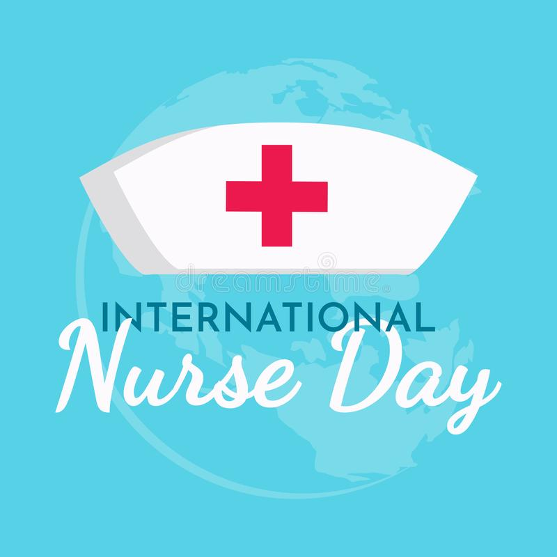 International Nurse day text background ,greeting card ,poster or banner stock illustration