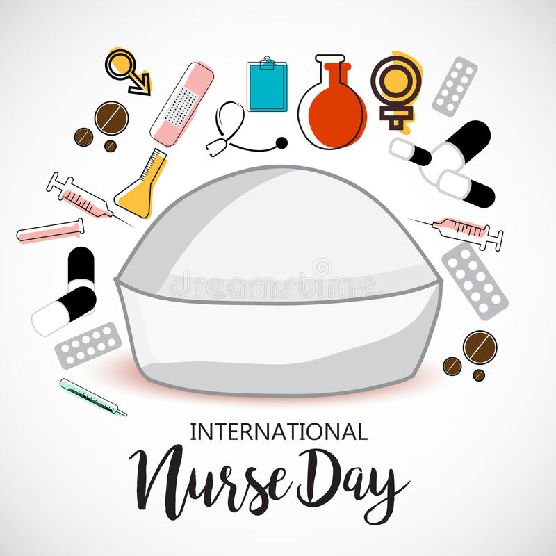 International Nurse Day. stock illustration