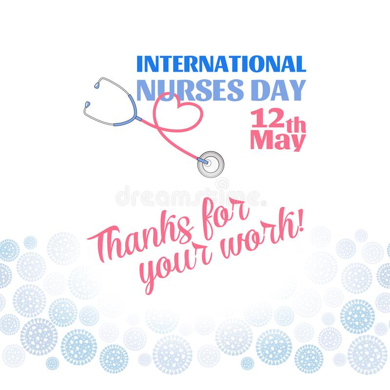 Free International Nurses Day 12 May Poster Stock Images - 182254694