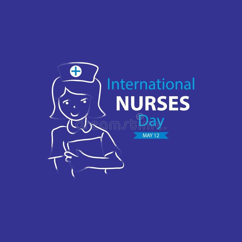 International Nurses Day. Concept design stock illustration
