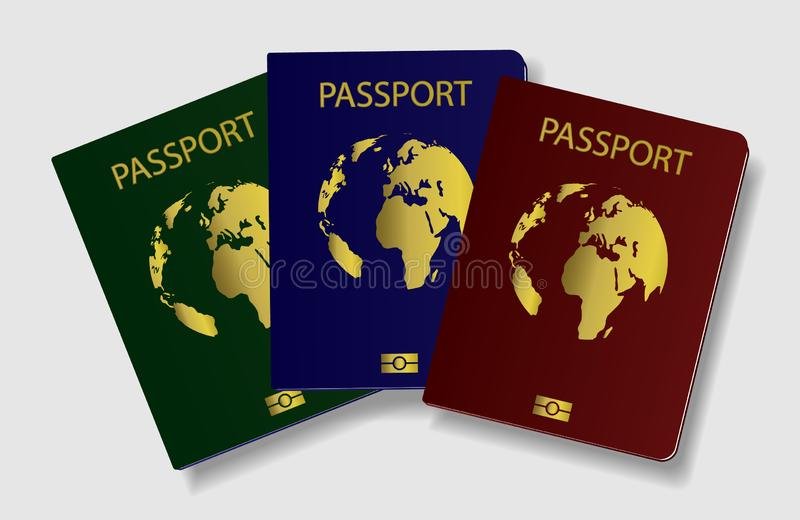 International passport of a citizen. Identification. International passport of a citizen, Identification vector illustration