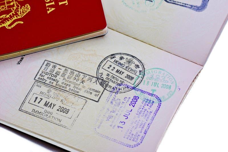 International Passport Series 02. Malaysia International Travel Passport on white background royalty free stock images