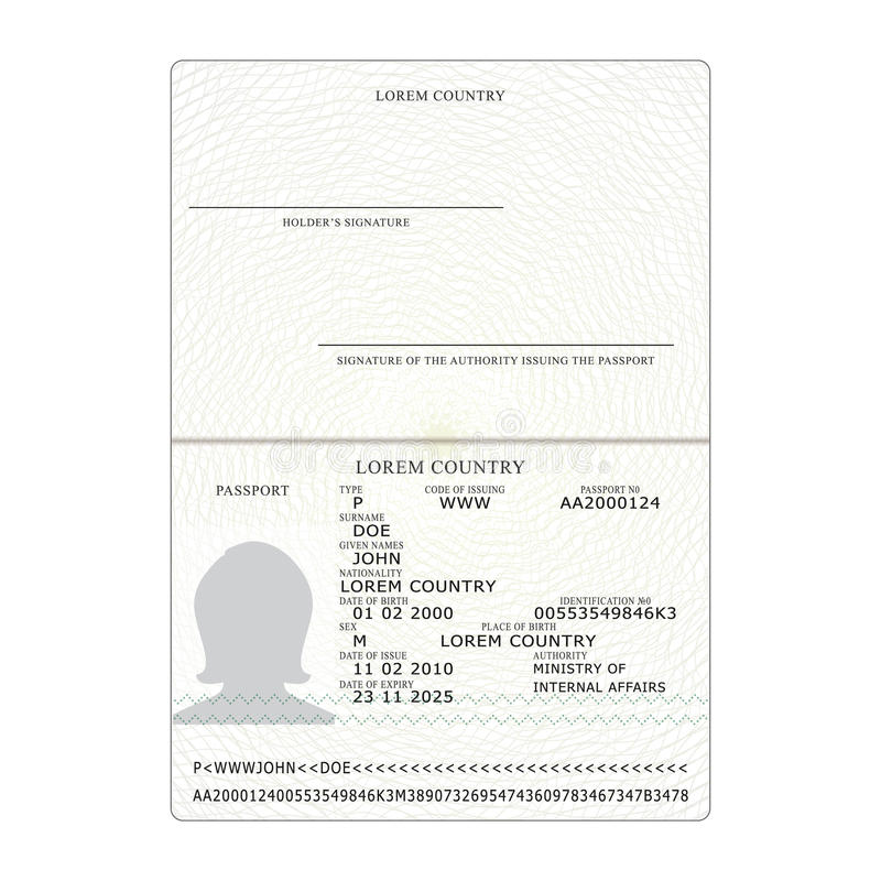 Blank passport template vatozozdevelopment blank passport template stopboris Gallery