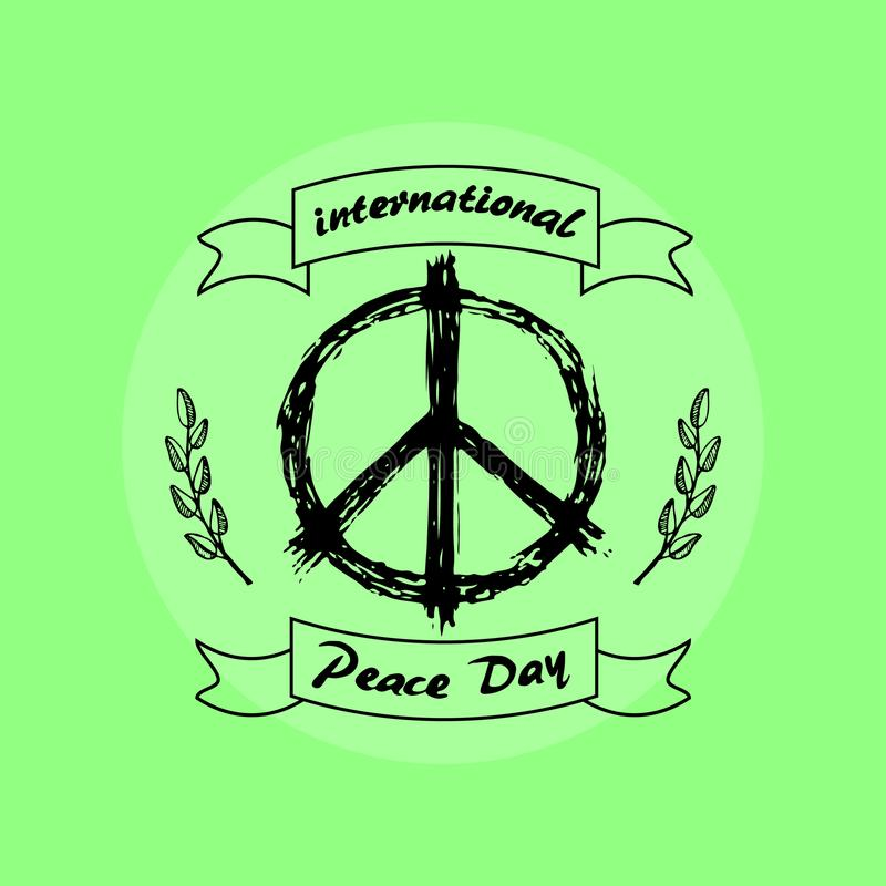 International Peace Day on Vector Illustration royalty free illustration